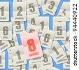 Calendar sheets seamless background - stock vector