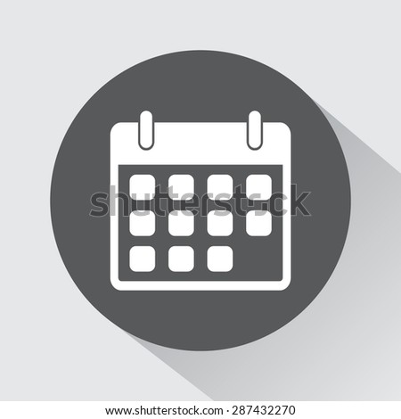 Calendar sign icon, vector illustration. Flat design style