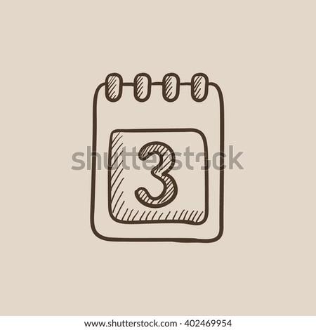 Calendar sketch icon. - stock vector