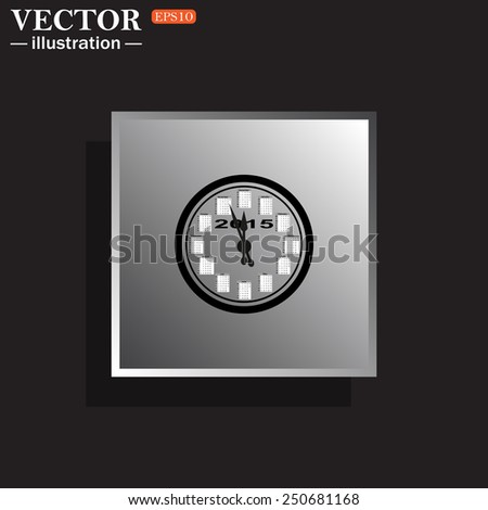 Calendar 2015  stylized clock with figures for the calendar business wall. Vector illustration, EPS 10