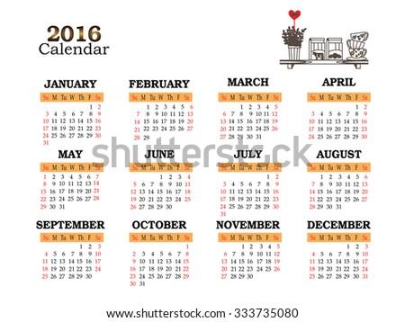 bar calendar template
