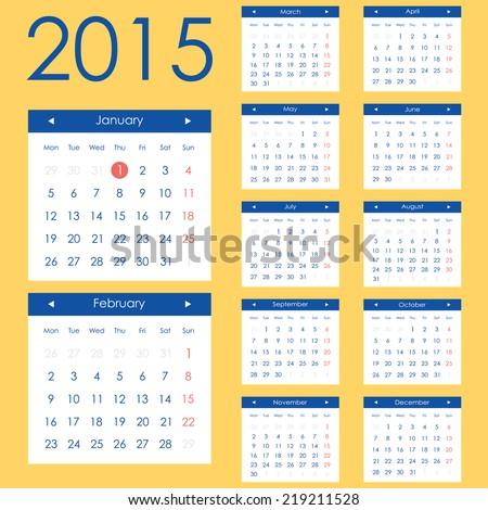 Anastasiabs Calendar Icon Set On Shutterstock