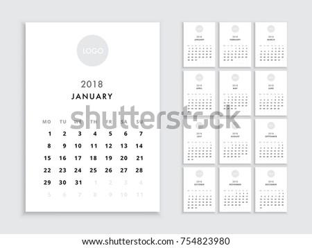 template for a calendar