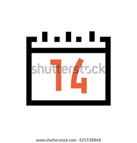 Calendar, valentine's day, love line icon. Pixel perfect fully editable vector icon suitable for websites, info graphics and print media. - stock vector