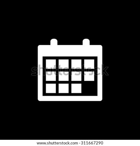 Calendar  - vector icon - stock vector