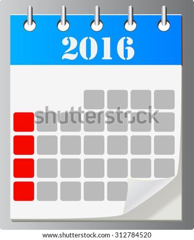 Calendar vector icon ,eps 10 - stock vector