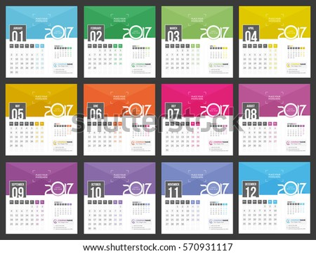 Calendar Design Template Imágenes Pagas Y Sin Cargo, Y Vectores En