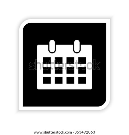 Calendar -  white vector icon