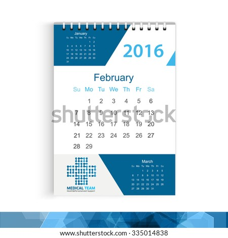 Calendar with corporate identity logo Medicine