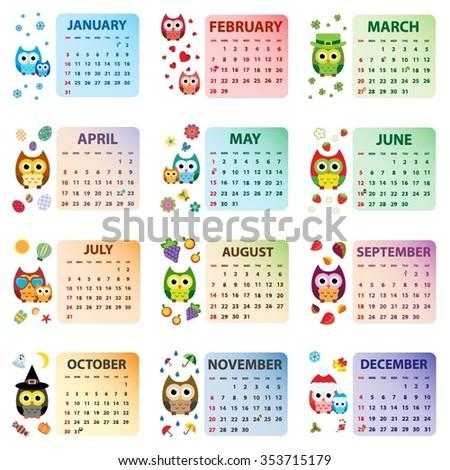 Pretty Owl Calendar Template Pictures Template Teacher Binder