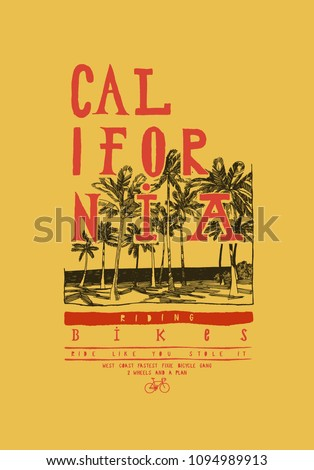 stock-vector-california-bikes-palm-beach