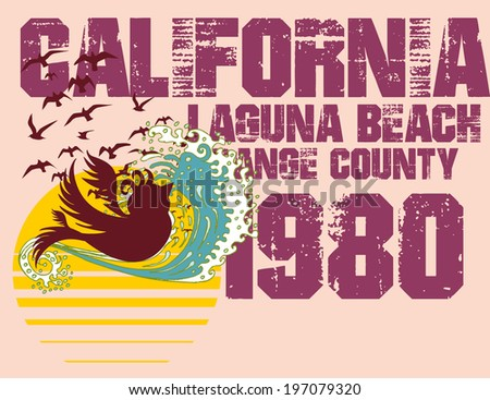 california laguna beach vector art