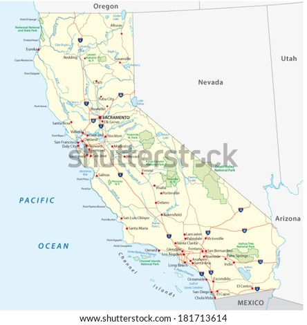 california map - stock vector