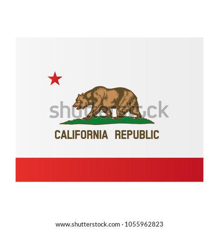 California National Flag On White Background Stock Vector 1055962823