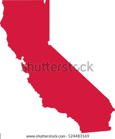 California State Map Stock Vector Shutterstock - California state map