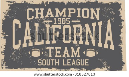 california team design, south league