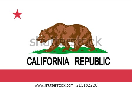 California vector state flag. - stock vector