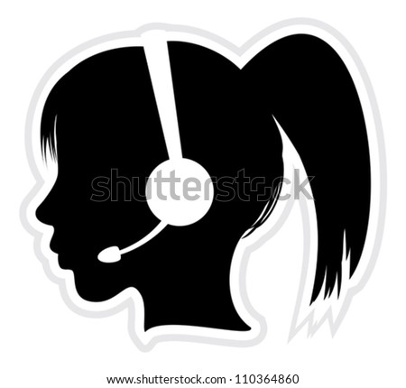 call center - stock vector