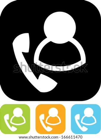 Call center agent vector icon isolated  - stock vector