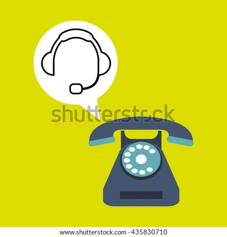 Call center design. Global communication. Flat illustration,