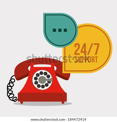 Call center design over gray background, vector illustration