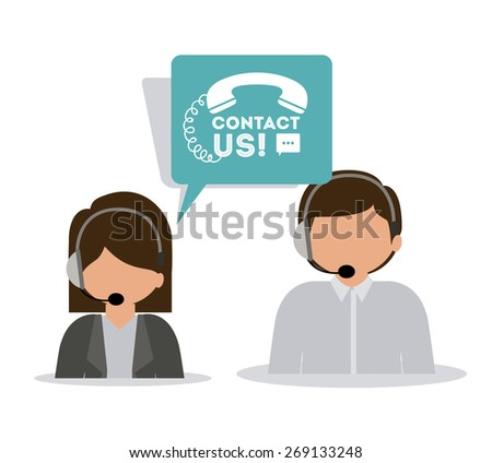 call center design over white background, vector illustration