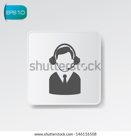 Call center symbol,vector - stock vector