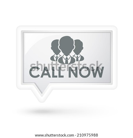call now words with services on a speech bubble over white - stock vector