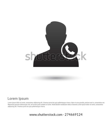 Call to User Icon - stock vector