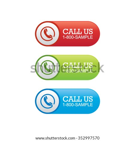 Call Us Banners - stock vector