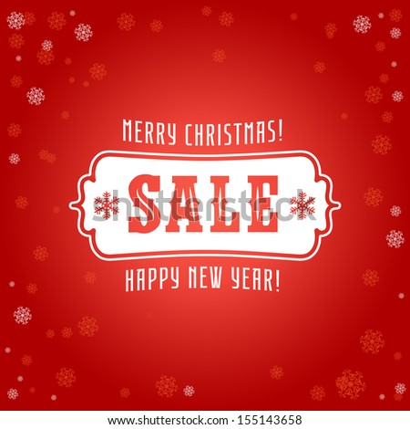 Calligraphic and typographic christmas elements, frames, vintage labels and borders  - stock vector