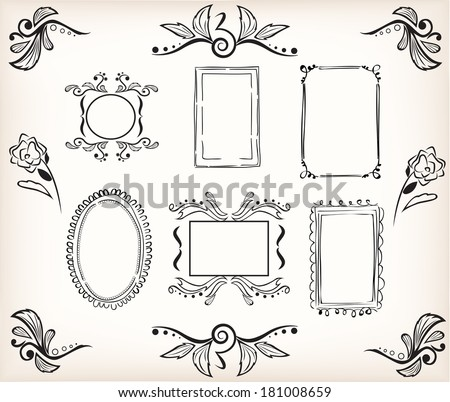 Calligraphic Borders And Frames To Easily Decorate Your Template Or Design