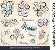 calligraphic decorative design elements collection - stock vector