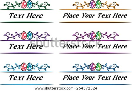 Calligraphic decorative elements with Easter Egg - stock vector