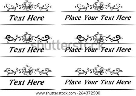 Calligraphic decorative elements with Halloween Pumpkin - stock vector