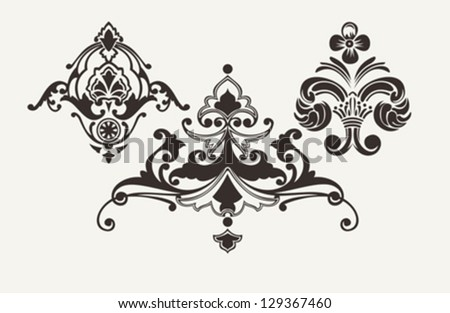 Calligraphic Design Elements For Page Decoration - stock vector