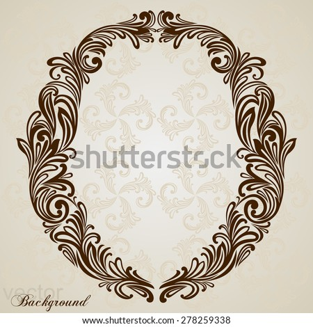 Calligraphic Font. Vintage initials letter O. Vector Design Background. Swirl Style Illustration. - stock vector