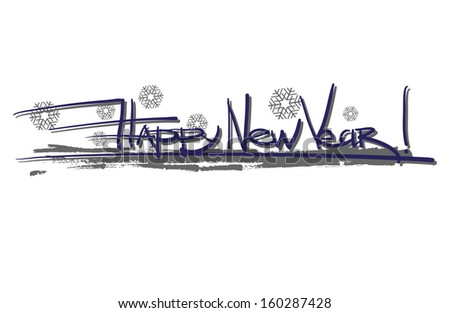 calligraphic inscription on the upcoming new year - stock vector