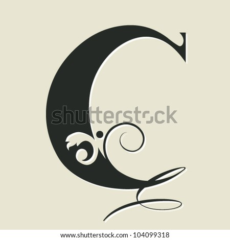 Calligraphy Letter c Calligraphic Letter c Stock
