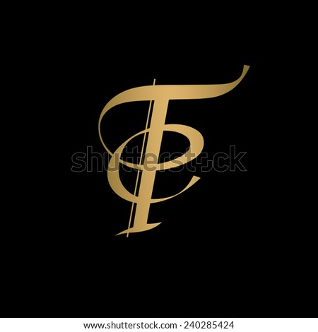 Calligraphic letter vector design - stock vector