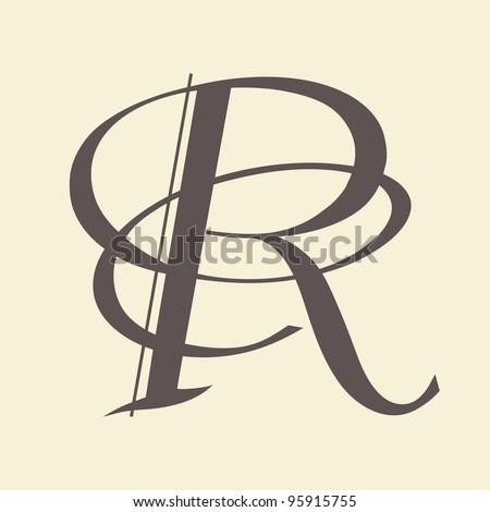 Calligraphic letter vector design - stock vector