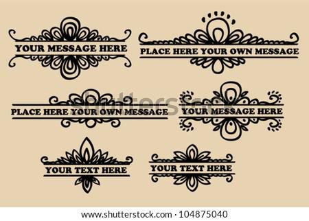 Calligraphic Vignette Design Elements Vector Stock Vector ...