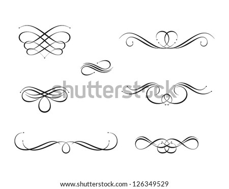 Calligraphy Design Elements Stock Vector 126349529