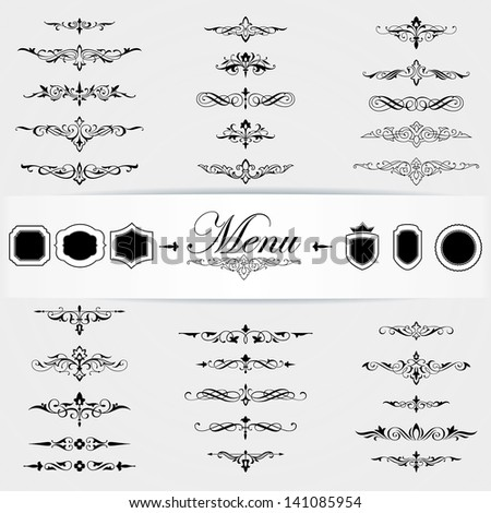 Calligraphy design elements page decoration - stock vector