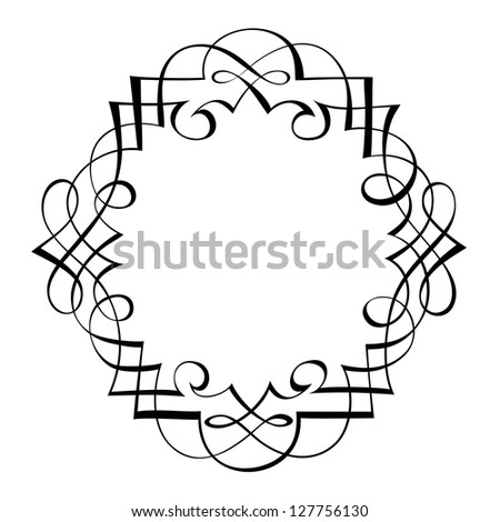 calligraphy ornamental decorative frame - stock vector