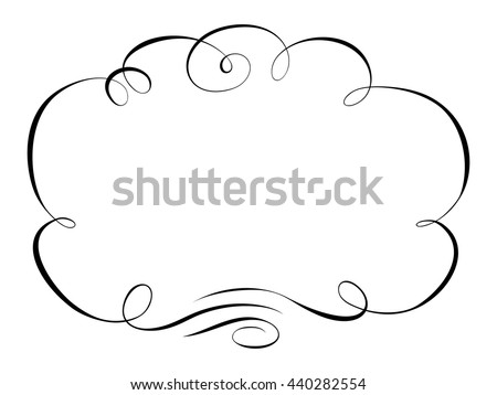calligraphy ornamental decorative frame
