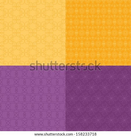Calligraphy Patterns - stock vector