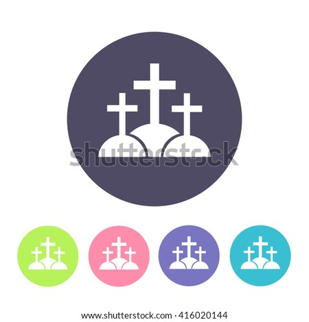 calvary icon. vector illustration