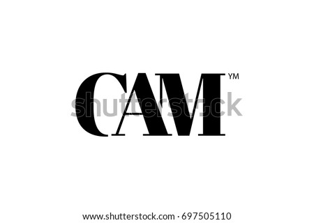 cam logo branding letter vector graphic design useful as app icon alphabet combination