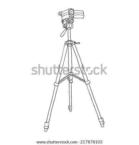 camcorder on a tripod. vector illustration